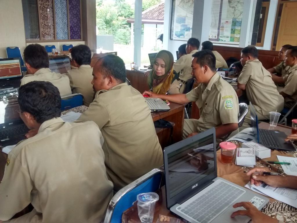 Bimtek SIAK desa/kelurahan angkatan keempat, hari pertama, Kabupaten Gunung Kidul