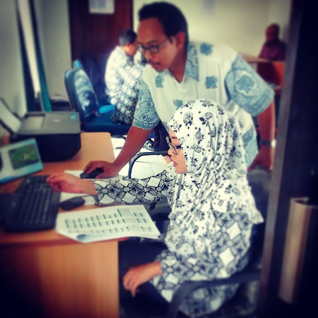 Pelatihan Aplikasi SIAK Desa Sukoharjo, tahun 2015