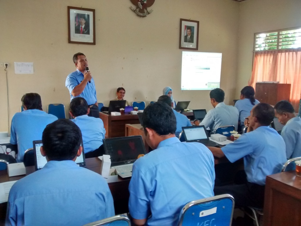 Bimtek SIAK desa/kelurahan angkatan kelima, hari pertama, Kabupaten Gunung Kidul